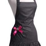 Black and White Ruffled Apron