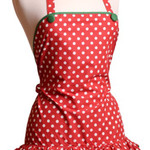 Red & White Polka Dot Apron