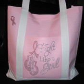 "Fight Like a Girl"" Tote Bag"