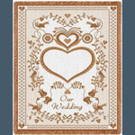 Wedding Parchment Throw